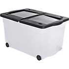 more details on HOME 65 Litre Lidded Wheeled Plastic Storage Box.