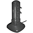 more details on Masterplug 10 Socket 2 USB Extension Tower - 1m.