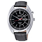 more details on Seiko Men's Kinetic Black Dial Black Strap Watch.