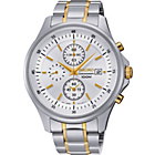 more details on Seiko Men's Two-Tone White Dial Bracelet Watch.