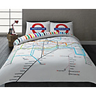 more details on London Tube Map Bedding Set - Double.
