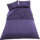more details on Inspire Purple Rouched Bedding Set - Double.