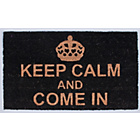 more details on Keep Calm and Come In Doormat 70x40cm - Black.