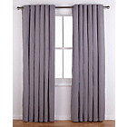 more details on ColourMatch Lima Eyelet Curtains - 168x183cm - Smoke Grey.
