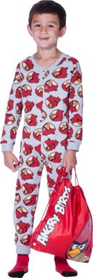 Angry Birds Boys' Grey Nightwear Set - 5-6 Years