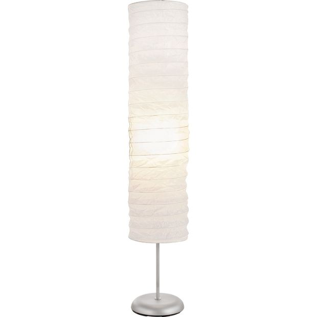 Buy home tube paper floor lamp white at argoscouk for Argos wood floor lamp
