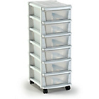 more details on Keter 6 Drawer Plastic Slim Tower Storage Unit - White.