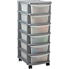 more details on Keter 6 Drawer Plastic Slim Tower Storage Unit - Silver.