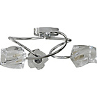 more details on Talos Twisted Glass 3 Light Ceiling Fitting - Chrome.