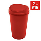 more details on 45 Litre Touch Top Kitchen Bin - Red.