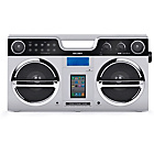 more details on Bush Retro Boombox with Docking Station - Silver.