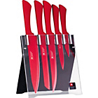 more details on Richardson 5 Piece Knife Block Set - Red.