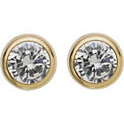 more details on 9ct Gold Round Cubic Zirconia Rubover Stud Earrings - 5mm.