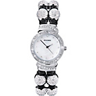more details on Crystalla Ladies' Silver Double Beaded Watch.