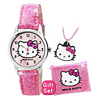more details on Hello Kitty Girls' Glitter Watch Set.