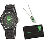 more details on Tikkers Boys' Skull Watch Set.