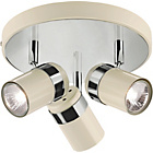 more details on Living Shiro 3 Light Spotlight Plate Cream & Chrome Effect.