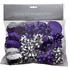 more details on Christmas Wrapping Accessories Pack - Purple and Silver.