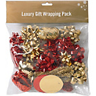 more details on Christmas Wrapping Accessories Pack - Red and Gold.