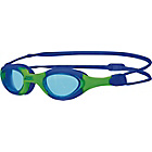 more details on Zoggs Super Seal Junior Blue/Green Goggles -  6-14 Years.