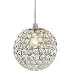 more details on Living Clear Crystal Globe Light Shade.
