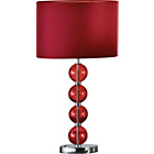 more details on Inspire Glass Ball Table Lamp - Ruby Red.