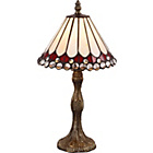 more details on Tiffany Style Jewel Table Lamp - Cream.
