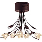 more details on Inspire Mya Chocolate 5 Light Semi Flush Ceiling Fitting.
