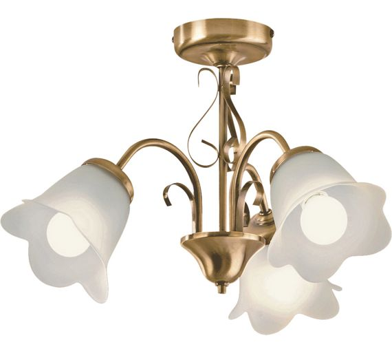 Buy HOME Elise 3 Light Ceiling Fitting - Antique Brass at Argos.co.uk - Your Online Shop for ...