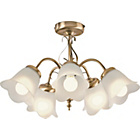 more details on HOME Elise 5 Light Ceiling Fitting - Antique Brass.