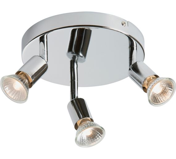Buy Home Cromer 3 Spotlight Ceiling Plate Silver At Your Online Shop For Ceiling