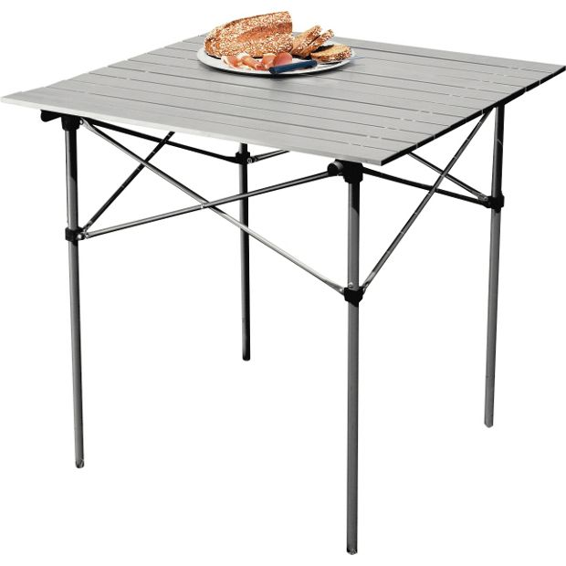 buy aluminium folding camping table with slatted top at. Black Bedroom Furniture Sets. Home Design Ideas