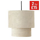 more details on HOME 2 Tier Suede Ceiling Shade - Natural.