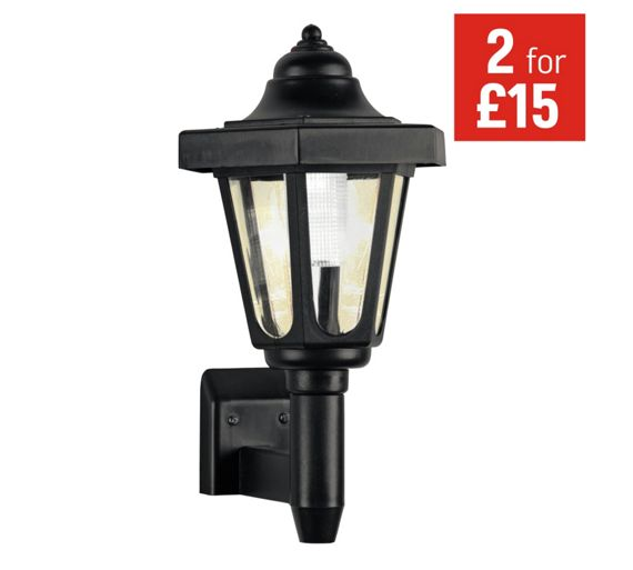 Switched Chandelier Wall Lights : Buy HOME Black Solar Outdoor Wall Light at Argos.co.uk - Your Online Shop for Solar lighting ...