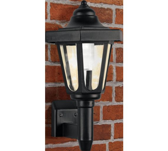 Buy HOME Black Solar Outdoor Wall Light at Argos.co.uk - Your Online Shop for Solar lighting ...