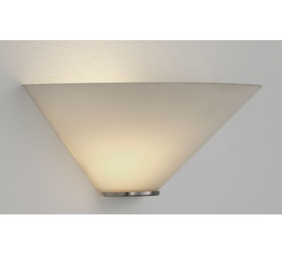 Switched Chandelier Wall Lights : Buy HOME Mozart Glass Uplighter Wall Light - White at Argos.co.uk - Your Online Shop for Ceiling ...