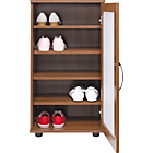 more details on Contemporary Shoe Storage Cabinet - Walnut Effect.