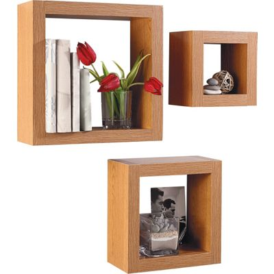 chunky cube shelves oak effect this set of three chunky cube shelves