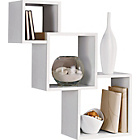 more details on High Gloss Geometric Cube Shelves - White.
