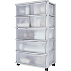 more details on HOME 7 Drawer Plastic Wide Tower Storage Unit - White.