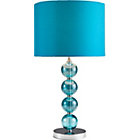 more details on Inspire Glass Ball Stemmed Table Lamp - Teal.