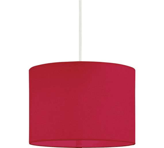 buy colourmatch fabric shade poppy red at. Black Bedroom Furniture Sets. Home Design Ideas