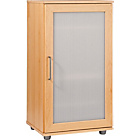 more details on Contemporary Shoe Storage Cabinet - Beech Effect.