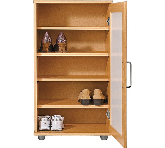 buy home contemporary shoe storage cabinet beech effect. Black Bedroom Furniture Sets. Home Design Ideas