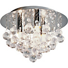 more details on Living Joy Flush Droplets Ceiling Light - Clear.