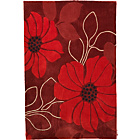 more details on Living Poppy Acrylic Rug - 180x120cm - Poppy Red.