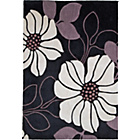 more details on Living Poppy Acrylic Rug -180x120cm - Black.