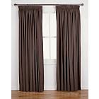 more details on ColourMatch Lima Pencil Pleat Curtains 168x183cm Chocolate.