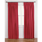 more details on ColourMatch Lima Pencil Pleat Curtains 229x229cm-Poppy Red.