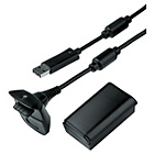 more details on Microsoft Xbox 360 Official Play and Charge Kit - Black.